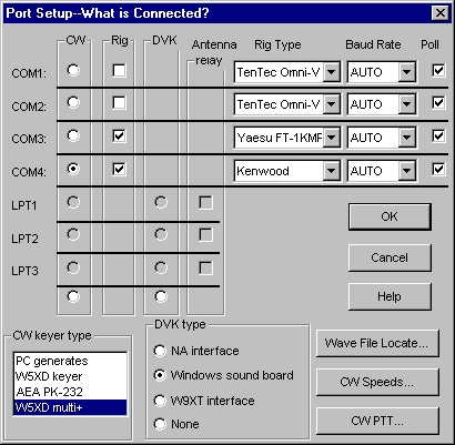 Using the W5XD multi-function keyer